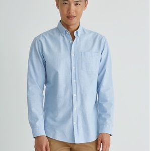 Frank & Oak - Jasper Oxford Shirt in Light Blue